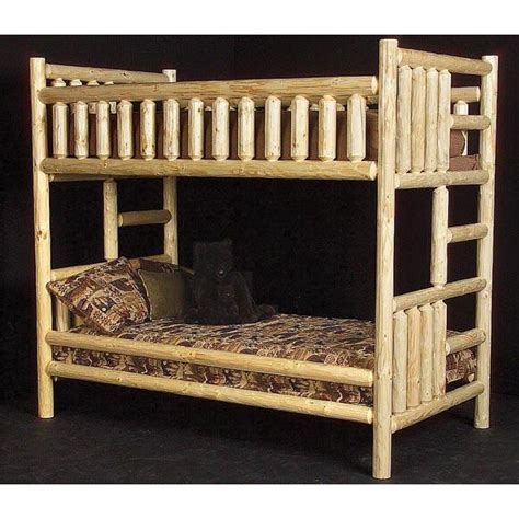 Pine Log Bunk Beds Pine Log Collection Northwoods Bunk Bed Log009
