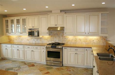 Kitchen Backsplash Ideas With Cream Cabinets | finding the right cream kitchen cabinets my kitchen