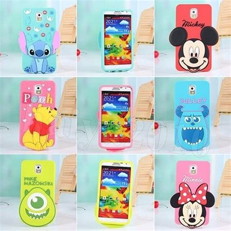3d disney mickey silicone cover for samsung