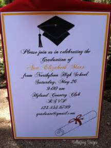 high school graduation ideas college high school graduation cap invitation 2013 by