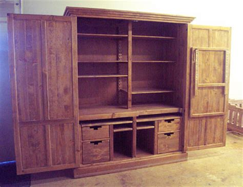 large computer armoire southwestern furniture custom computer armoires