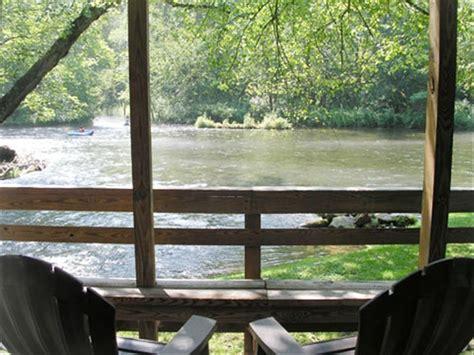Nantahala River Cabin Rentals by Riverfront Cabin On Nantahala River Minutes Vrbo