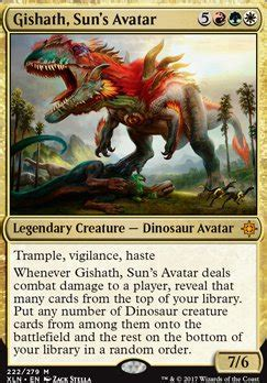 the of magic the gathering ixalan books gishath sun s avatar ixalan magic the gathering mtg card