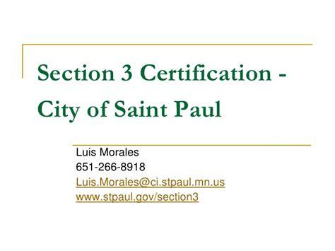 section 3 certification section 3 certification city of st paul
