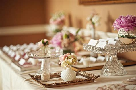 Vintage Wedding Table Decor by Inspired Creations Pink Wedding Inspiration