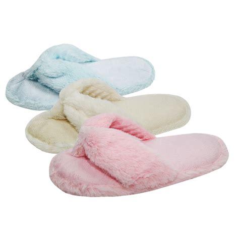 fluffy flip flop slippers forever dreaming womens flip flop slippers open toe