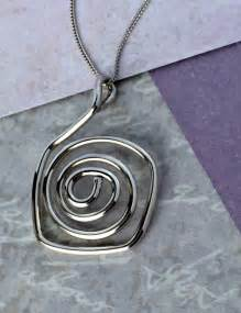 Spiral Silver Necklaces chunky silver necklace spiral handmade silver necklaces