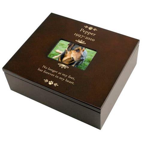 Box Pets pet memorial personalized keepsake box with frame