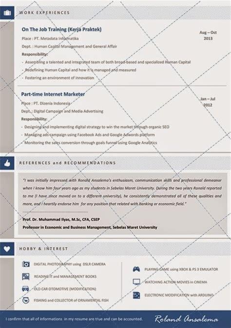 desain cv kreatif contoh cv lamaran kerja untuk bank