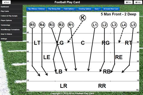 New Functionality Special Teams Play Cards And Much More Football Special Teams Blank Templates