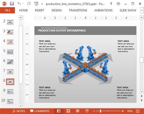 Collection of animated factory product process powerpoint template animated factory product process powerpoint template production line isometric powerpoint template toneelgroepblik Image collections