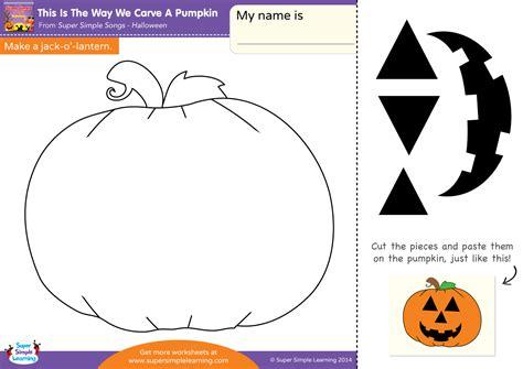make a worksheet this is the way we carve a pumpkin worksheet make a