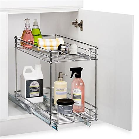 sink roll out storage lynk roll out sink drawers bed bath beyond