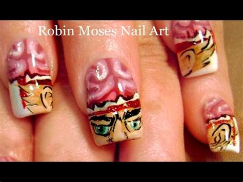 zombie nail art tutorial zombie nail art design tutorial youtube