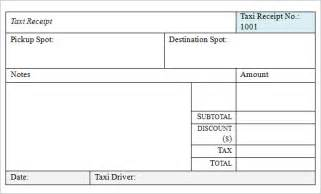 17 taxi receipt template free samples examples format