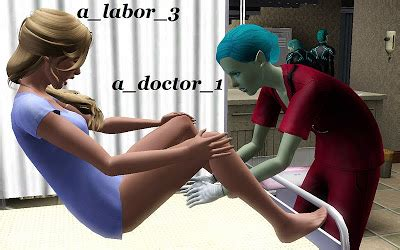 jamee s sims 3 february 2012 jamee s sims 3 hospital labor pose set