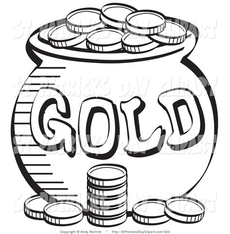 Coin Outline Clip by Gold Coins Black And White Clipart