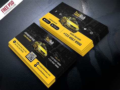 transport business card template cab taxi services business card template psd