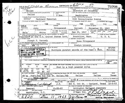 Deceased Search Jfk S Assassination In New Historical Records