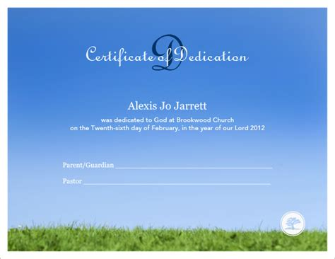 baby dedication certificate template baby dedication certificate template 19 free word pdf