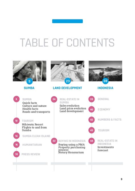 Mba Mondays Table Of Contents by Sumba Real Estate Brochure By Www 01islands