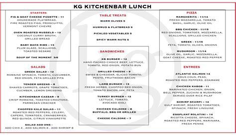 bar menu menu kg kitchen bar