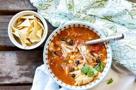 slow cooked chicken enchilada soup c 5 dinners in 1 hour
