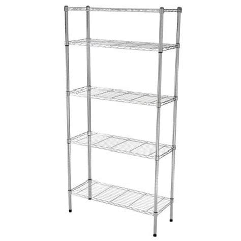hdx 5 tier 36 in x 72 in x 14 in wire home use shelving