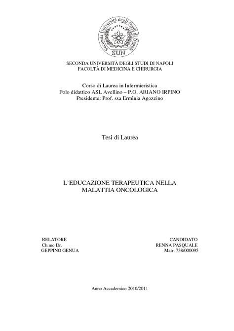 universit 224 degli studi di roma la sapienza tesi di laurea infermieristica tesi di laurea in