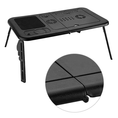 desk with cooling fan adjustable foldable laptop desk table with cooling fan