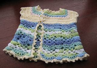Dress Sonea An ravelry sleeved baby cardigan pattern by sonea delvon