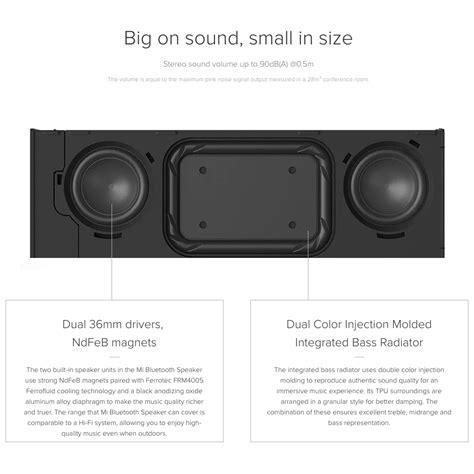 Speaker Xiaomi Mi Bluetooth Gold xiaomi mi aluminium bluetooth speaker memory card reader