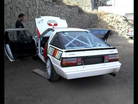 mitsubishi starion rally car mitsubishi starion turbo yhm motorsport canarias youtube