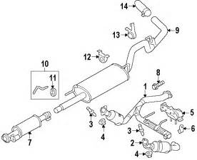 F150 Exhaust System Diagram Parts 174 Genuine Factory Oem 2013 Ford F 150 Xl V8 5 0