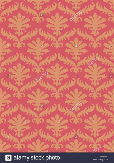 farbe coral vektor bunte damast nahtlose floralen muster hintergrund