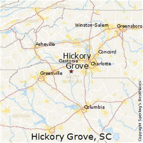 hickory carolina map best places to live in hickory grove south carolina