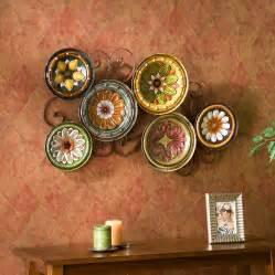 wall decor plates tuscan mexican hacienda colonial style decor iron