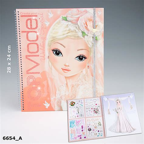 Top Model Wedding Design Book by Topmodel Malbuch Create Your Topmodel Wedding Special Bei
