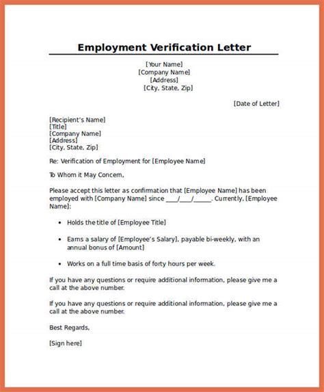 Exle Of Proof Of Employment Letter by Employment Verification Letter Bio Exle