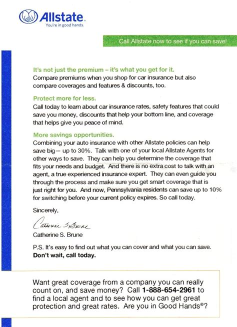 Insurance Quote Letters all state insurance quote glamorous allstate health