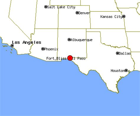 ft bliss texas map fort bliss texas map