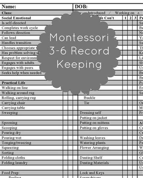Trillium Montessori Ue Progress Report Template 29 Best Images About Montessori Record Keeping On