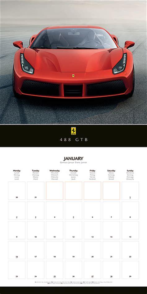 Ferrari Kalender by Ferrari Calendars 2018 On Europosters