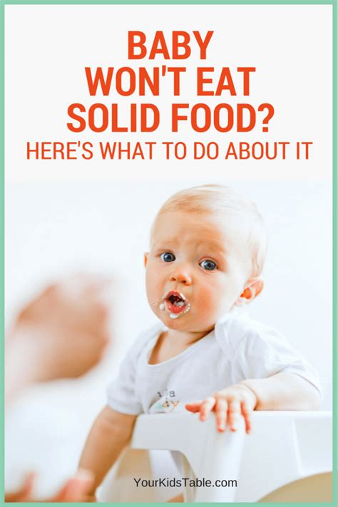 when do babies start table food what to do when baby won t eat solids 7 simple steps