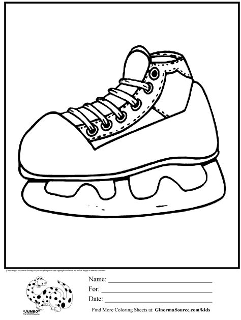 hockey skates coloring pages coloring page hockey ice skate ginormasource kids