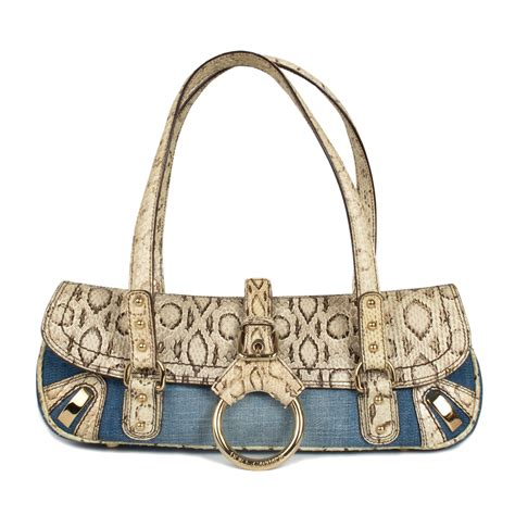 Shopping Gold Python Blackberry Purse by Dolce Gabbana Denim And Python Shoulder Bag Labelcentric
