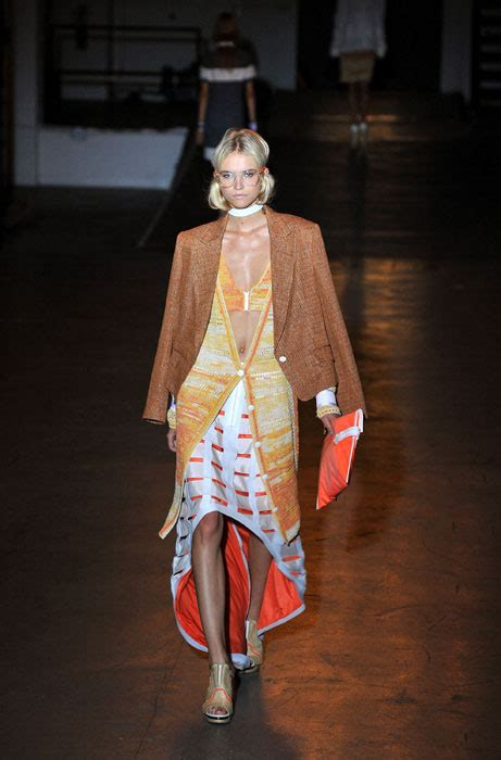 new york fashion week september 10 the new hue to have orange colours the runways at new