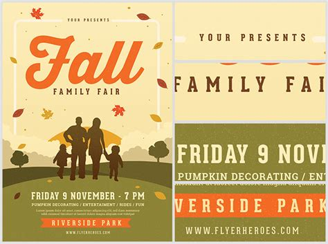 family fall fair flyer template flyerheroes