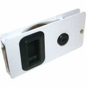 southco white sliding cabin door latch 5 625 quot x 2 875