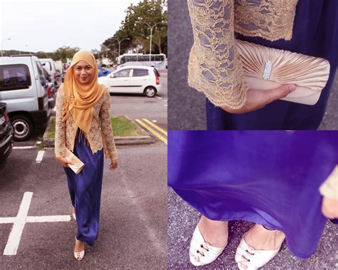 Maxi Nabilah Blue nadya abd h m gold pashmina shawl new look gold clutch charles keith gold peeptoe heels